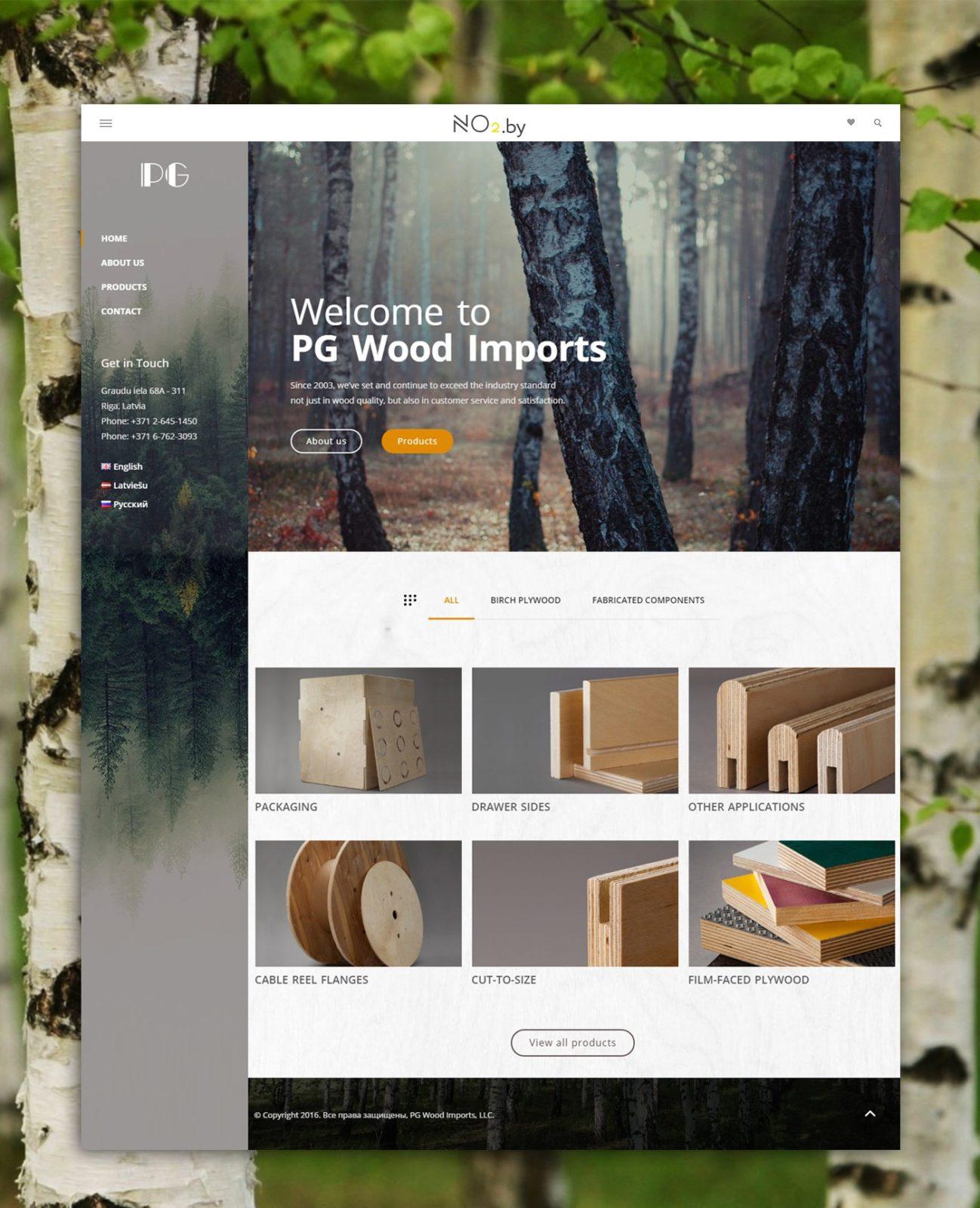 Корпоративный сайт «PG Wood Imports»