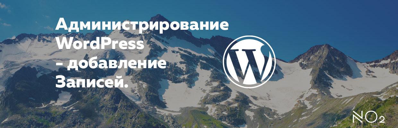 Администрирование  WordPress — добавление «Записей».