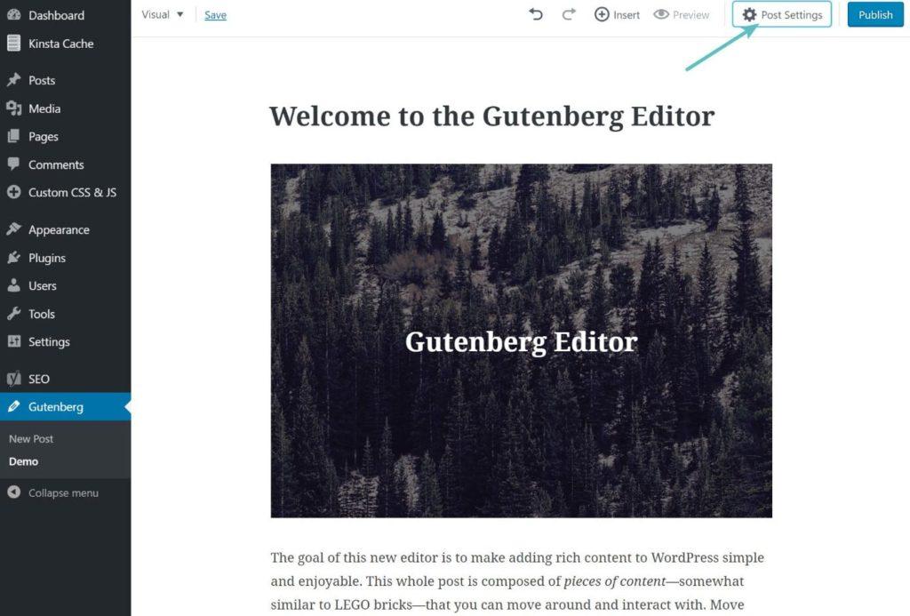 Новый визуальный редактор Gutenberg для WordPress