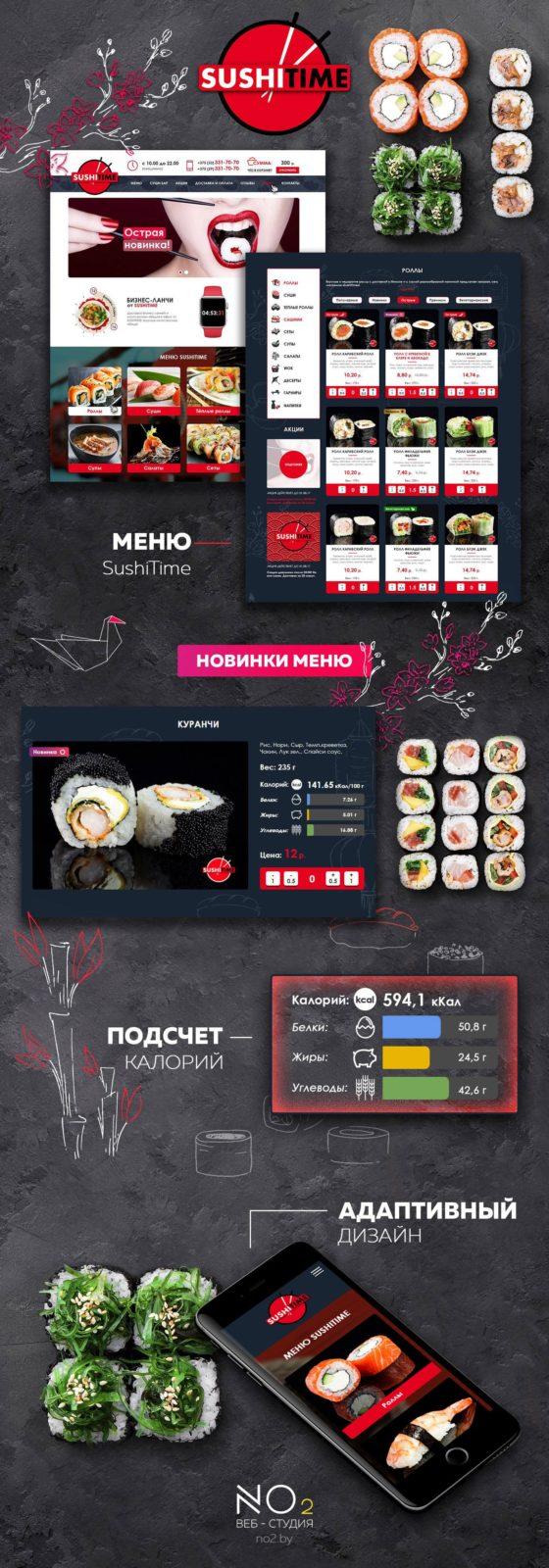 Создание сайта суши «SushiTime.by»