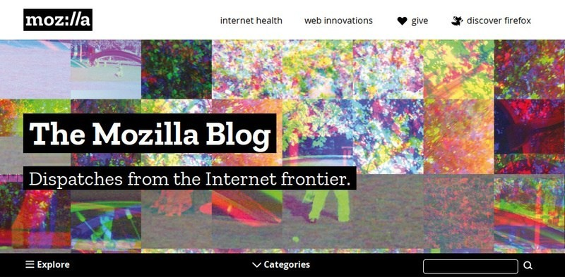 Сайт The Mozilla Blog