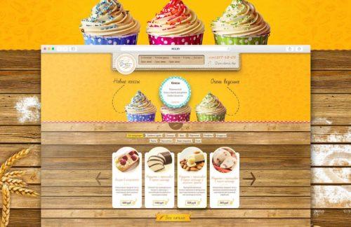 Дизайн сайта пекарни и кондитерских изделий «Булкин дом»