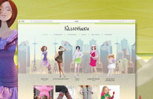 Дизайн сайта чулочно-носочных изделий