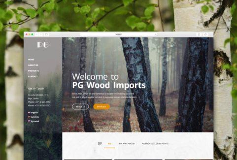 Корпоративный сайт PG Wood Imports