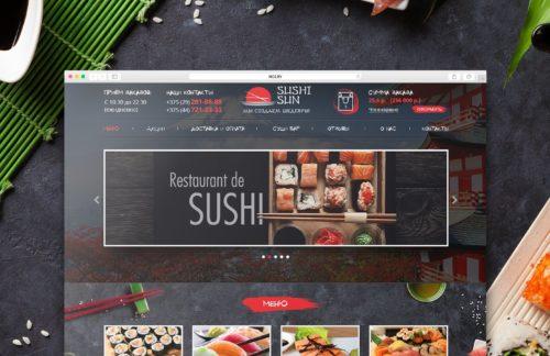 Сайт доставки суши Sushi-Sun.by