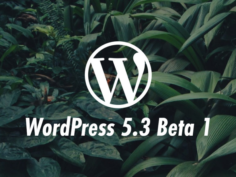 WordPress 5.3 Beta 1, готов к тестированию