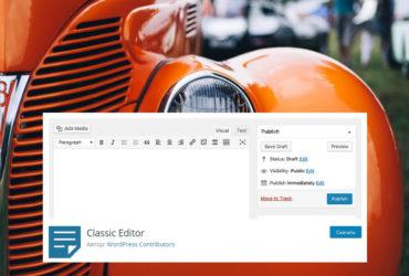 Как вернуть классический редактор WordPress 5.0