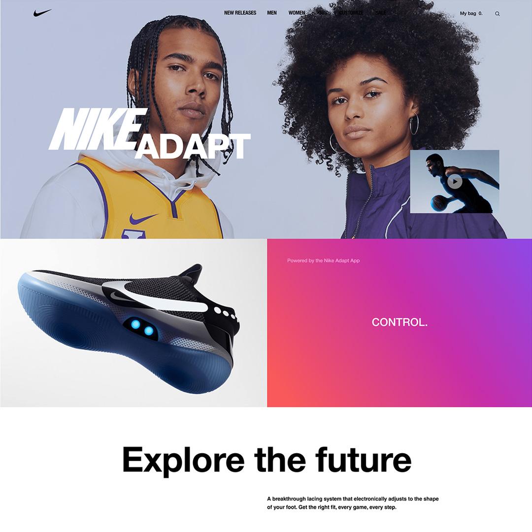 Дизайн интернет-магазина Nike